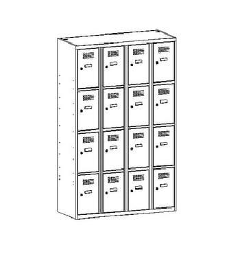 Metalowa szafka ze skrytkami